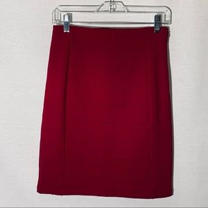 WHBM red pencil skirt, size 4